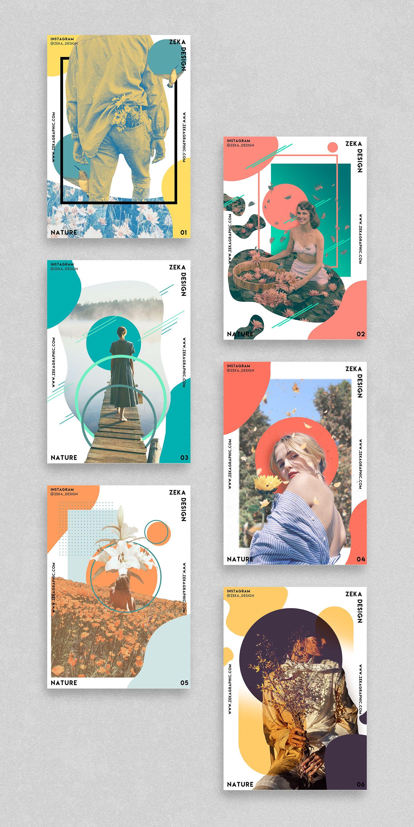 Nature Poster Design Project Graphic Design Inspiration by Zeka Design