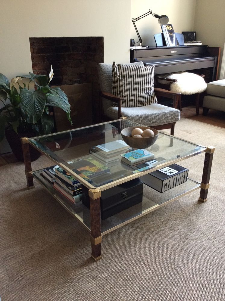 Awesome Pierre Vandel Designer Glass Harrods Coffee Table Square 70S Pabps2019 Chair Design Images Pabps2019Com
