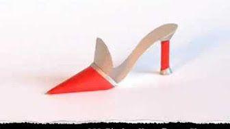 How to make a boho paper shoe - part 1 - YouTube