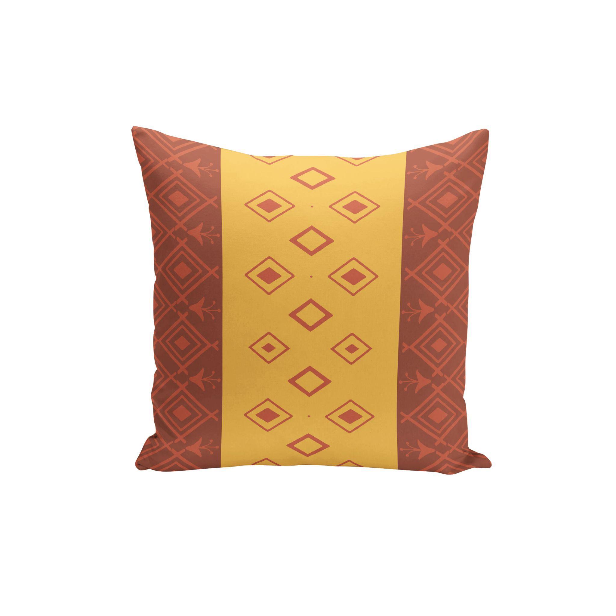 modern red orange throw pillows with decorative yellow olive green  - modern red orange throw pillows with decorative yellow olive green