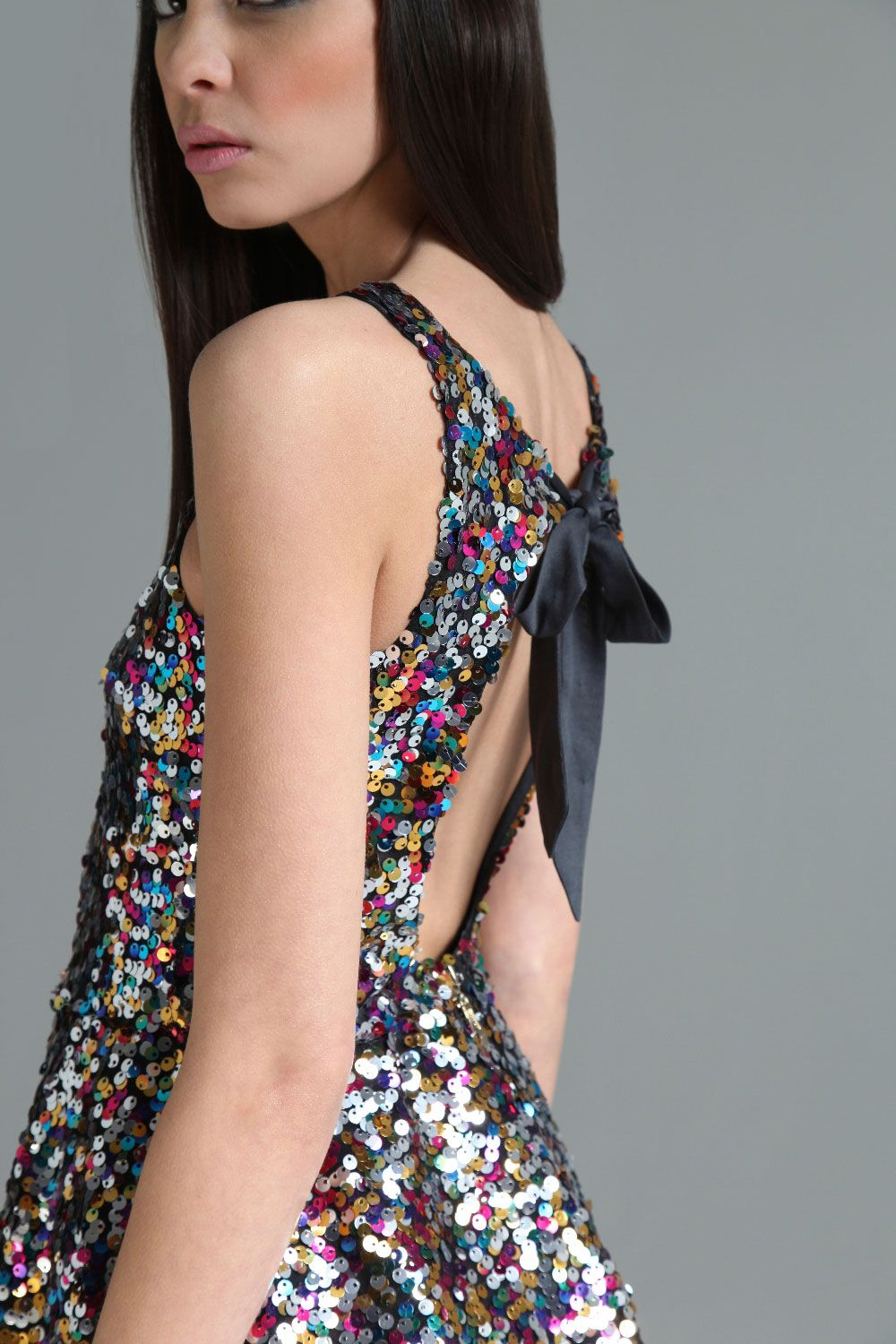 Boutique milly sequin tie back prom dress at boohoo i like