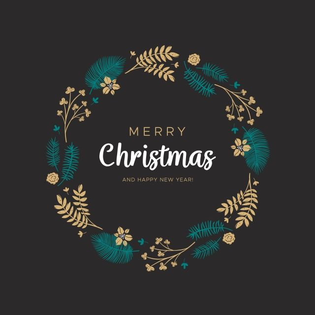 Photo of Christmas Wreath With Golden Leaves And Pine Branches, Christmas, Wreath, Round PNG and Vector with Transparent Background for Free Download