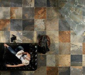 Carrelage Aspect Ardoise Naturelle Slaty Carrelage Ceramique Sol En Ardoise Carrelage