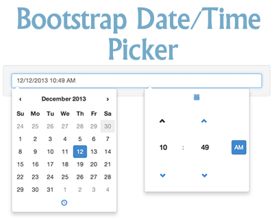 Bootstrap Datetime Picker Bootstrap Timepicker Datepicker