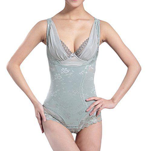 33e809f7a4bf4 Shymay Women s Lace Bodyshaper Corset Body Briefer Bodysuit Slimming  Shapewear
