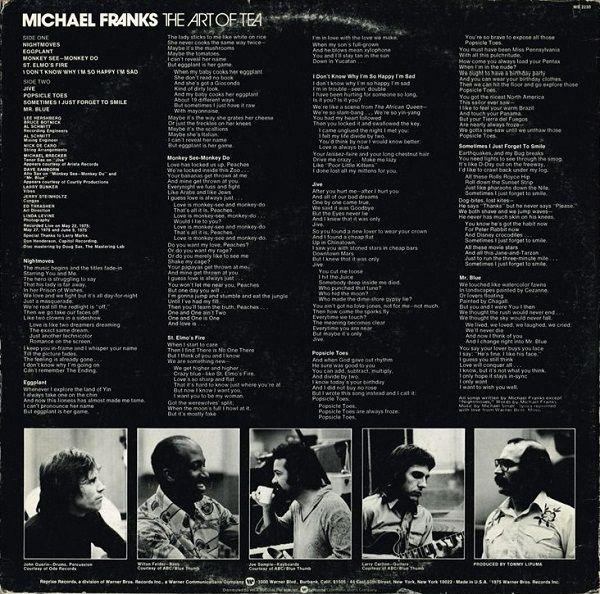 Michael Franks - The Art Of Tea (Vinyl, LP, Album) at Discogs