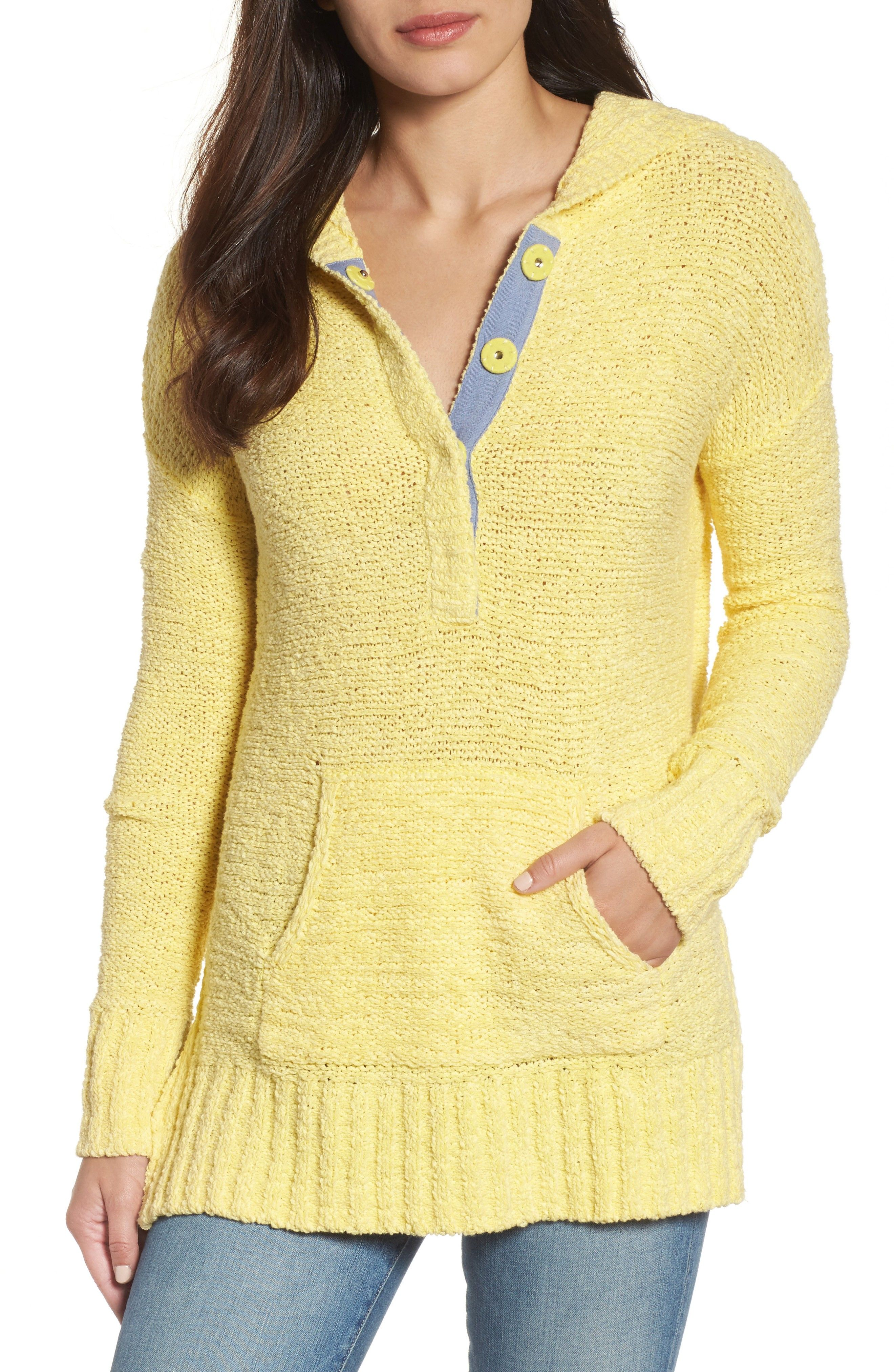 Beachy hooded knit sweater - Spring Style