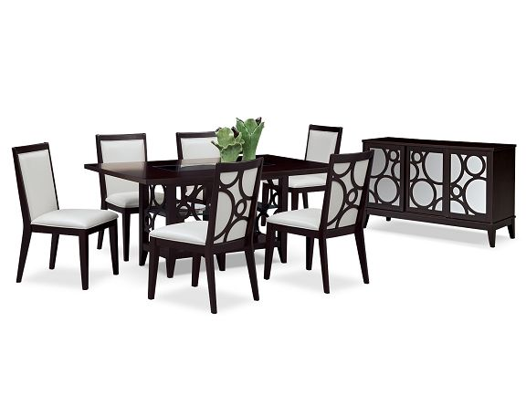 American Signature Furniture Luna Pearl Dining Room Collection Contemporary Dining Sets Furniture American Signature Furniture