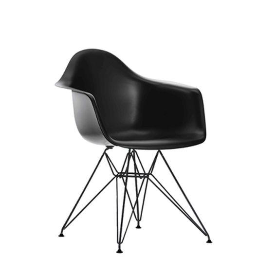 Eames DAR stol sort, m. sort stel (Ny sædehøjde 43,5)
