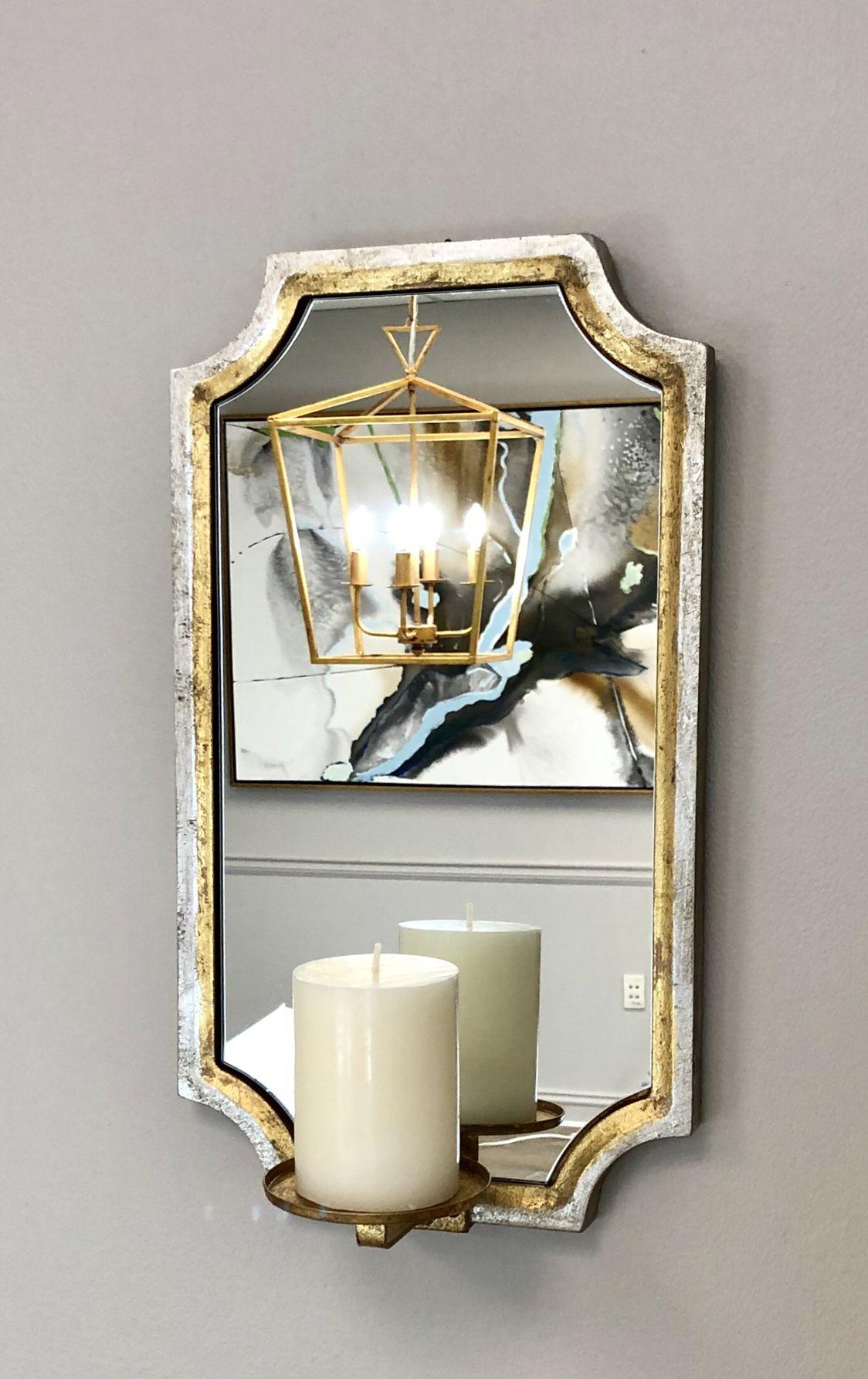 Ponnt Silver Gold Mirror Candle Holder Mirror Candle Holders Candle Mirror Gold Mirror Wall