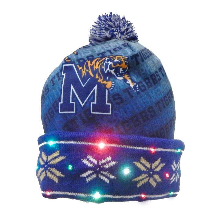 00e6838a8a6 Memphis Tigers Light  Em Up LED Beanie Cap