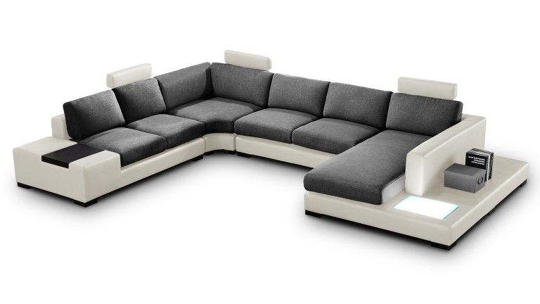 Canape D Angle Panoramique En Tissu Design Fritsch Living Room