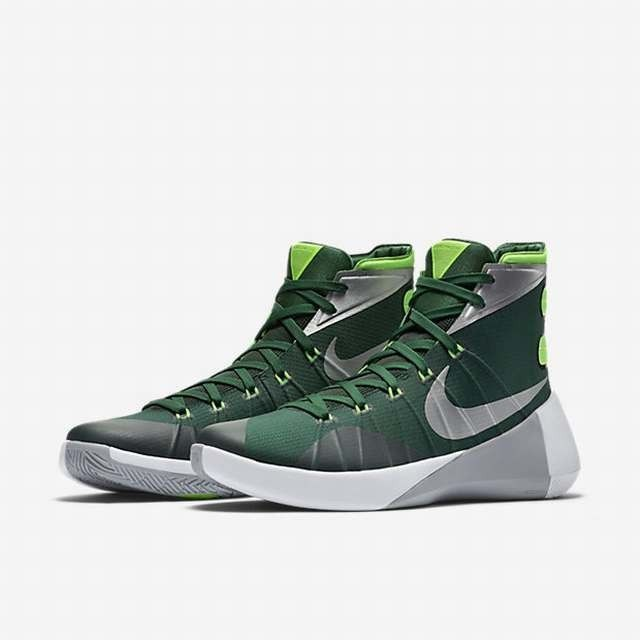 9ee429c6bc0 NIKE HYPERDUNK 2015 TB BASKETBALL GORGE GREEN SILVER NEW 749645-303 (SIZE 9)