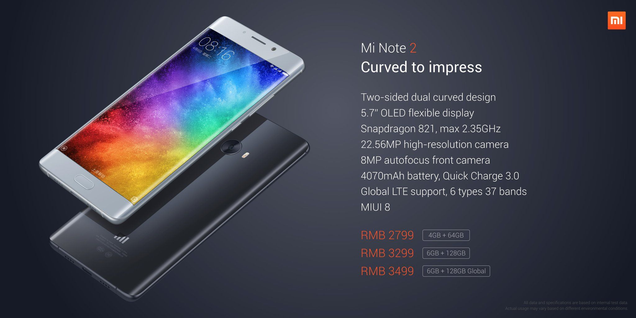 Xiaomi Mi Note 2 Specifications android google smartphones