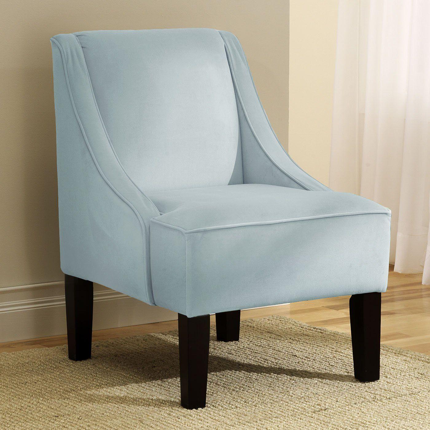 Skyline Furniture 72 1 Swoop Arm Accent Chair Pool Velvet $238