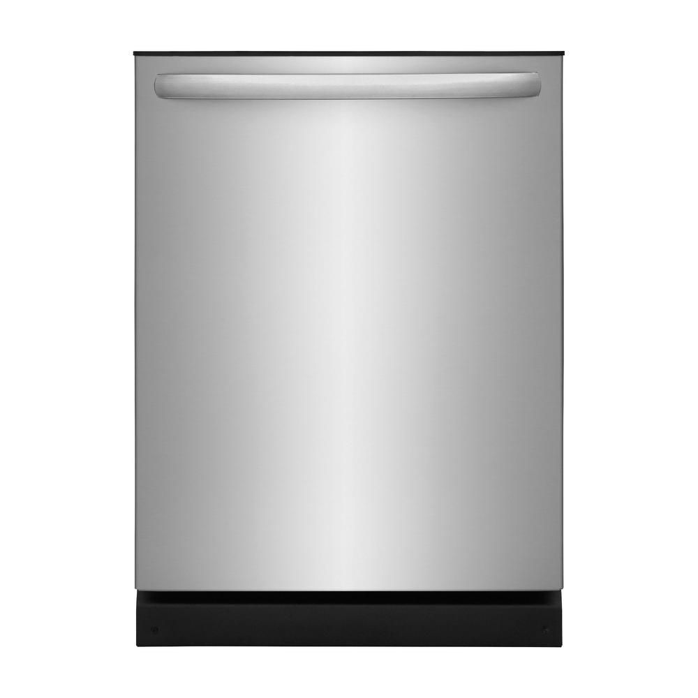 Frigidaire 24 In Stainless Steel Top Control Built In Tall Tub Dishwasher Energy Star 54 Dba Ffid2426ts The Home Depot Top Control Dishwasher Built In Dishwasher Stainless Steel Dishwasher