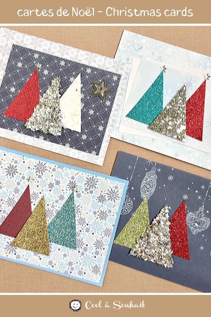 Cartes de Noël faciles à fabriquer   Cool à Souhait | Diy