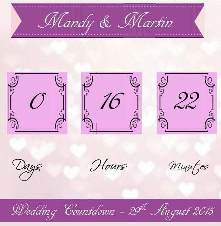 Wedding Countdown Ticker