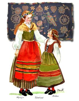 Nordic Folklore Scandinavian Costume Scandinavian Dress Buy Art Print
