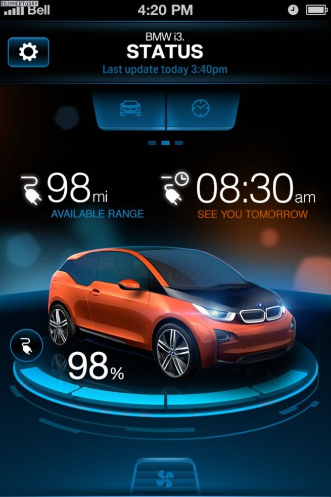 BMW-i-Remote-App-2013-ConnectedDrive-i3-Status-1 | Auto Apps | Car