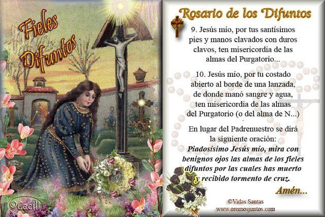 Rincn de la oracin fieles difuntos virgen religion pinterest imgenes de cecill rosario de los difuntos thecheapjerseys Choice Image