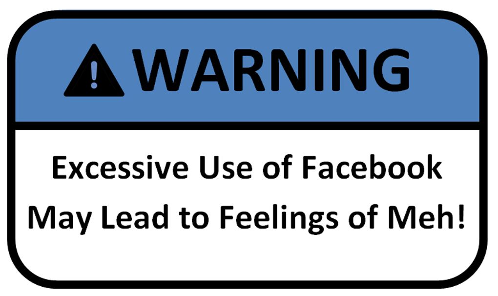 Facebook should come with a warning! 100 Things to do besides Facebook