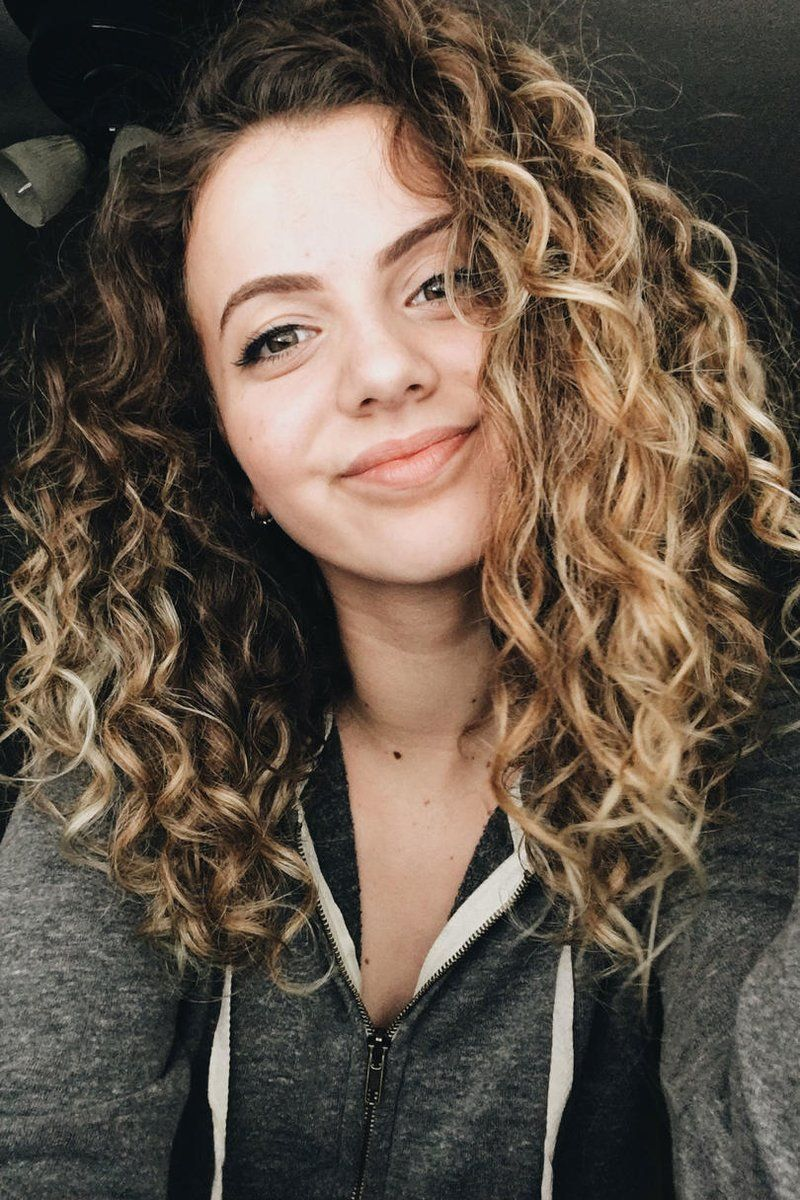 Curly Brown Hair With Blonde Highlights Highlights Curly Hair