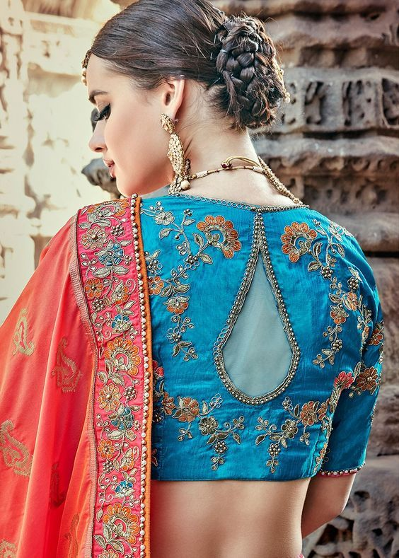 Stunning Back Neck Blouse Designs for Your Wardrobe ...