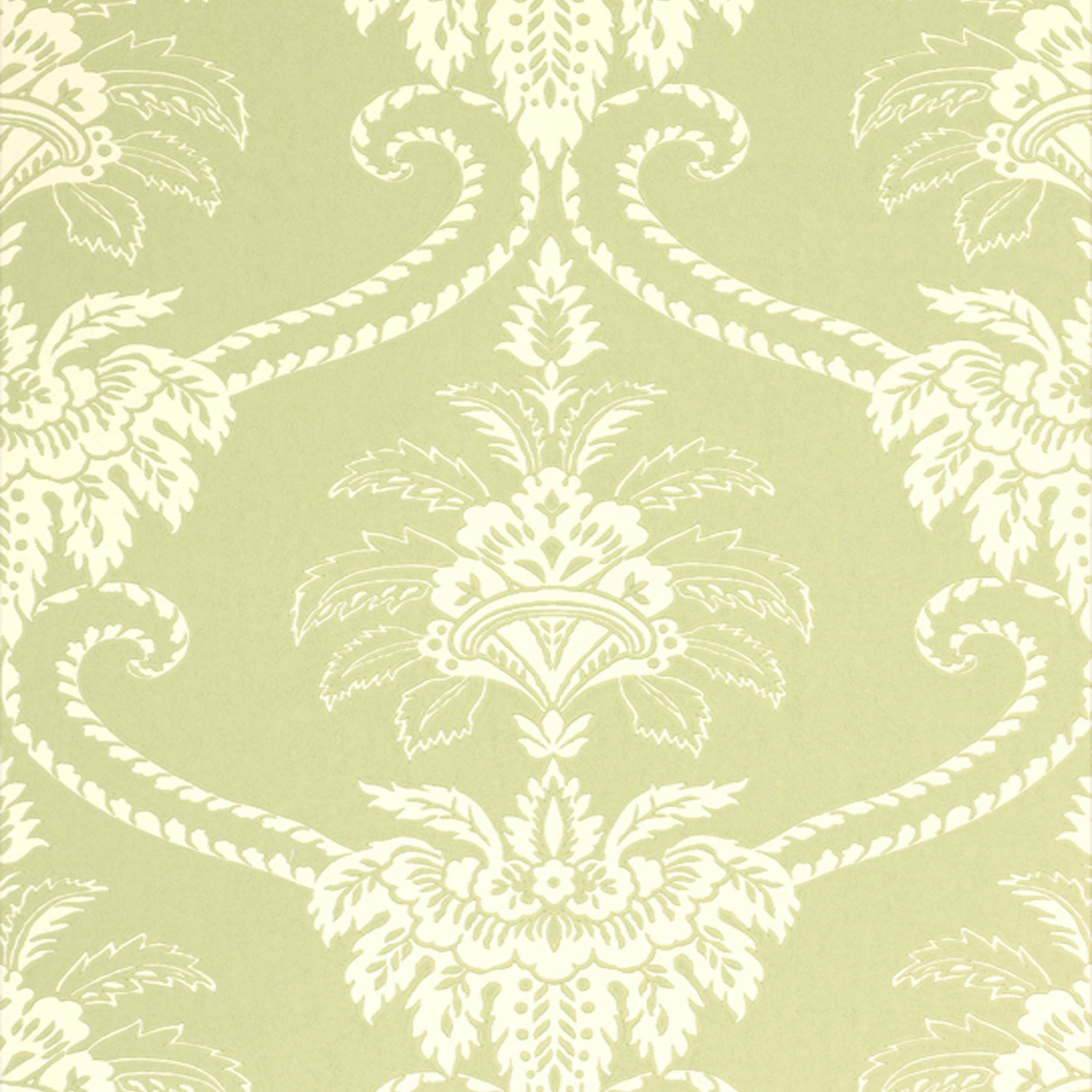 Damask Olive Green and Cream AT WP010 Pinterest