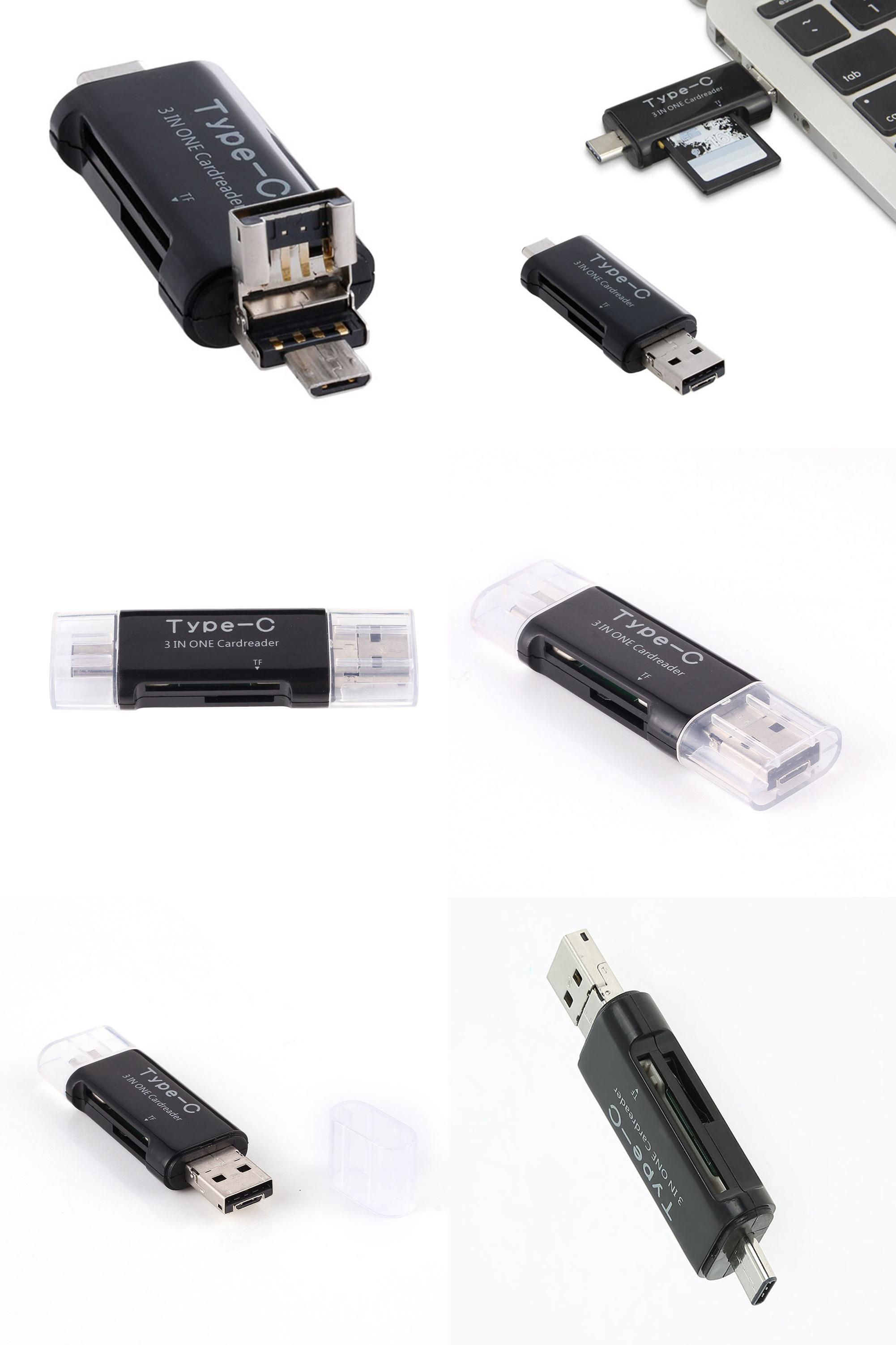 Visit To Buy 3 In1 Sd Tf Micro Memory Card Reader For Type C Microsd Usb 20