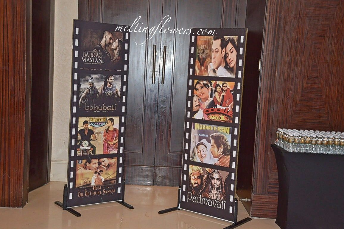 Wedding gate decoration ideas  Bollywood Theme For Sangeet Night Decorated At The RitzCarlton