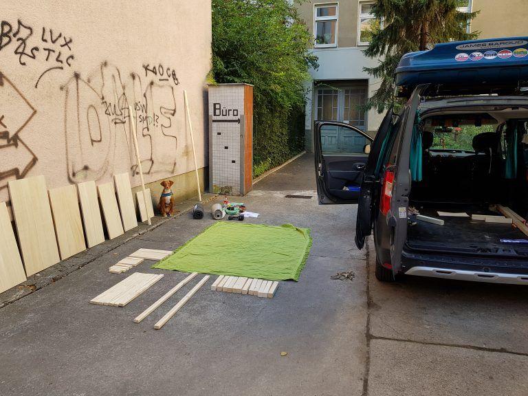 Ausbau meines Dacia Dokker Minicampers Bewusst Wandlerin