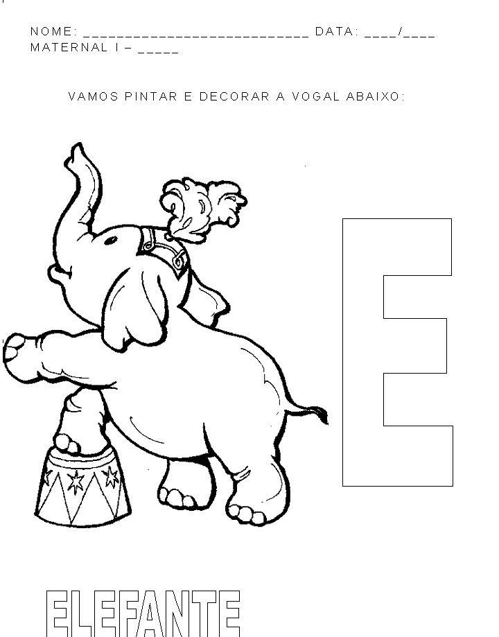 Atividades Vogais Maternal Pesquisa Google Circo Para Colorir