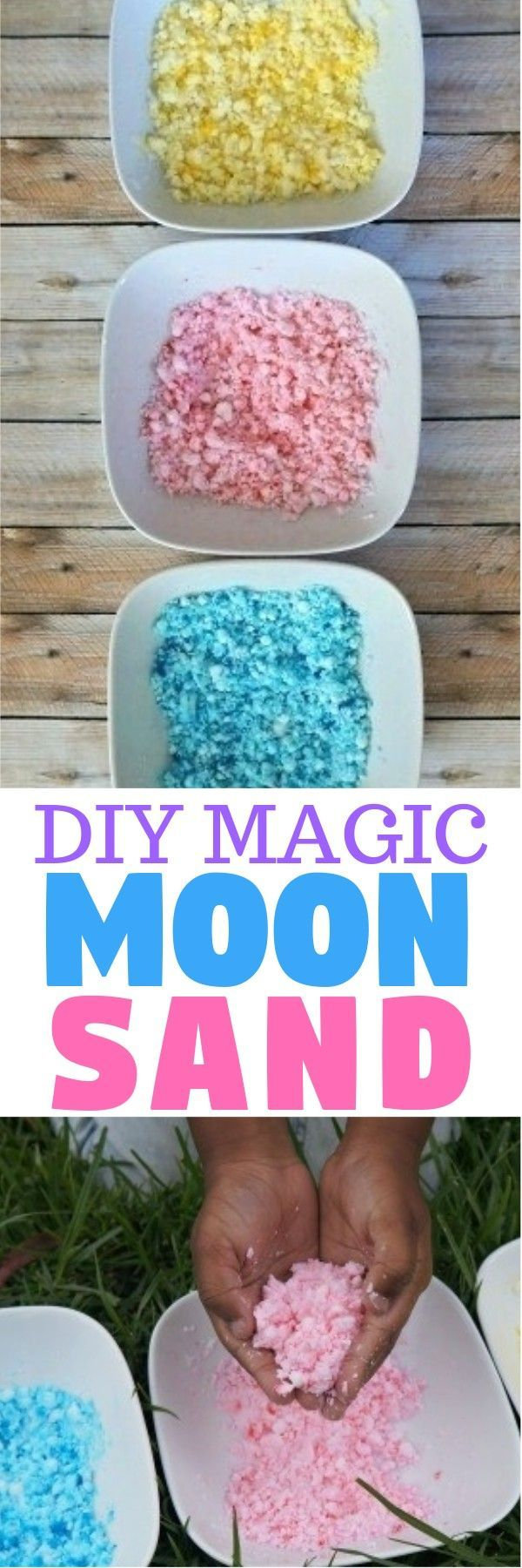 Diy Magic Moon Sand Recipe Build And Mold Sand For Fun Sensory