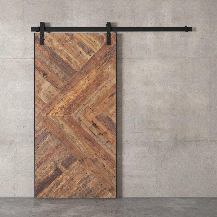 Reclaimed Wood Malibu Barn Door with Installation Hardware K…