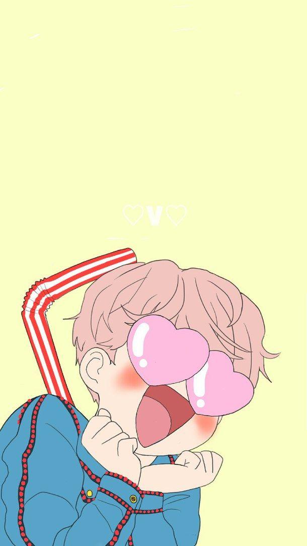 Bts Cute Fanart Funny Kpop V Taehyung Bis Wallpaper