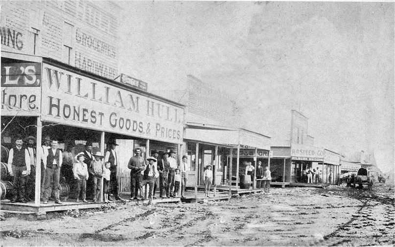 Pauls Valley Business District Circa 1890 Garvin County Oklahoma