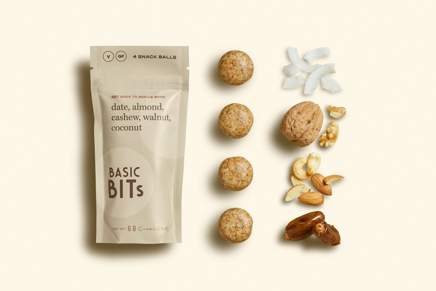 Download Basic Bits Snack Balls Packaging Design Food Packaging Healthy Energy Snack Bar Stand Up Pouch Logo Desi In 2020 Healthy Food Packaging Healthy Snack Brands Raw Snacks