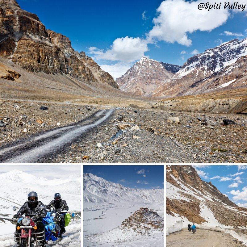 Spiti Valley Is One Of The Coldest Places On Top Of The Himalayas In The State Of Himachal Pradesh Snuggled At An In 2020 With Images Spiti Valley Bike Trips Himachal Pradesh