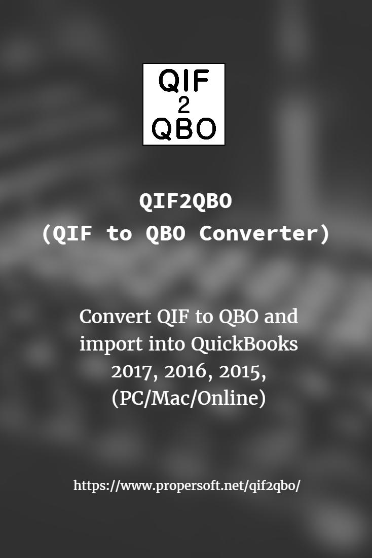 Qif2qbo | ProperSoft Inc  | Web connect, Mac online