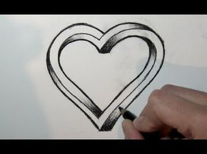 Wie zeichnet man ein 3d Herz mit bleistift- Online Zeichnen Lernen - YouTube