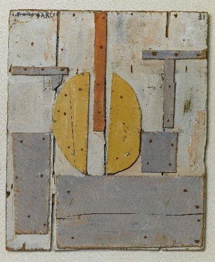 Constructivo con formas curvas (Construction with Curved Forms), Torres-García 1931