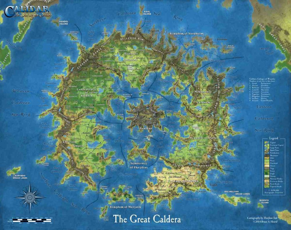 Great caldera poster map role playing game accessory for Great pictures of the world