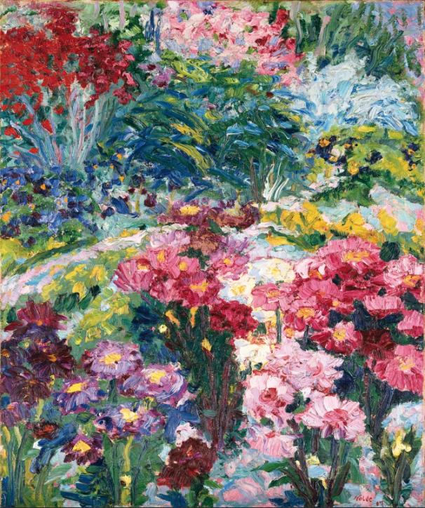 Emil Nolde Anna Wieds Garten 1907 Kunst Ideen Idee Farbe Wie Man Blumen Malt