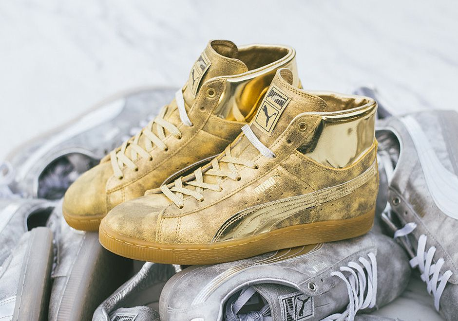 all gold pumas