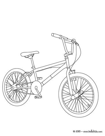 Bmx Bike Color In Coloring Page Bike Drawing Bike Illustration