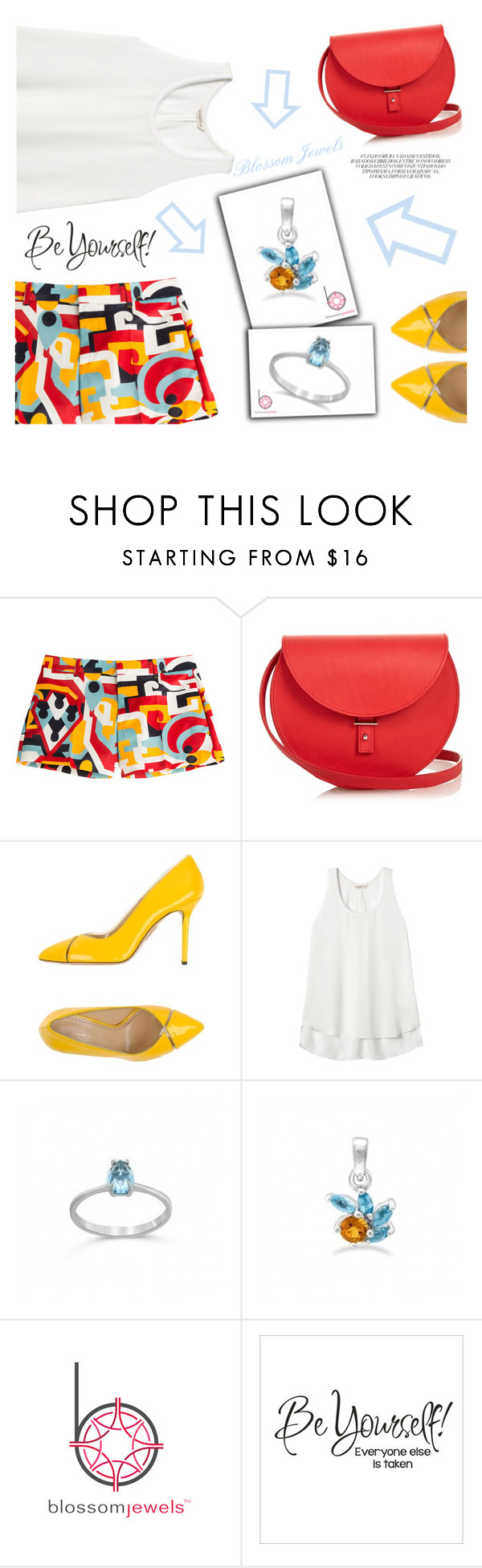 """""""Blossom Jewels"""" by tawnee-tnt ❤ liked on Polyvore featuring Dsquared2, PB 0110, Charlotte Olympia, Rebecca Taylor and Blossomjewels"""