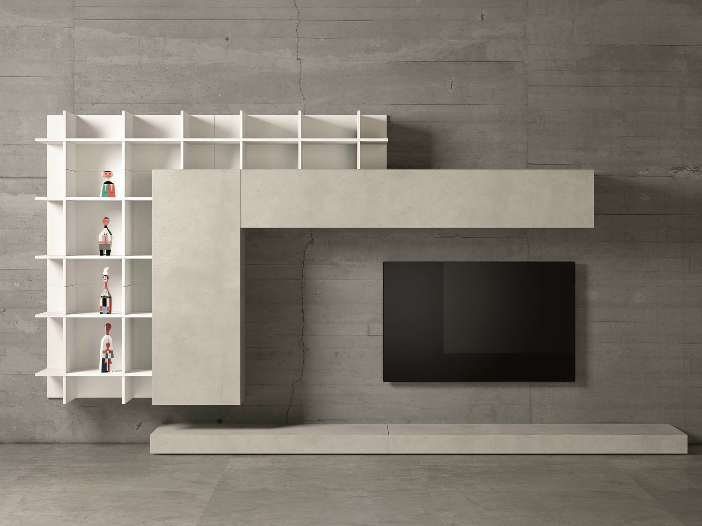 Mueble Modular De Pared De Dise O Con Soporte Para Tv Slim 47  # Muebles Modulares Bipiel