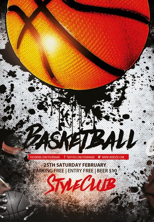 The Madness Begins Free 5 Basketball Flyers In Psd For The Big Tournament Nextdayflyers Free Basketball Photoshop Flyer Flyer Template