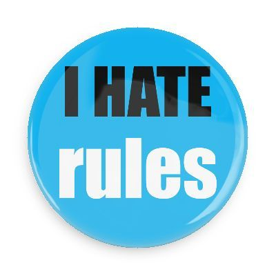 Funny Buttons - Custom Buttons - Promotional Badges - I hate Pins - Wacky Buttons - I hate rules